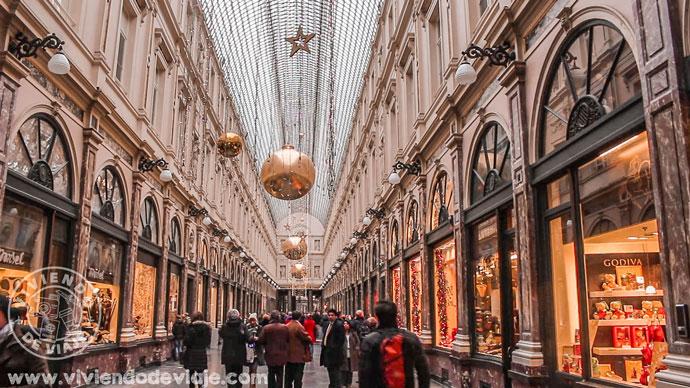 Galerías Saint-Hubert de Bruselas en Navidad