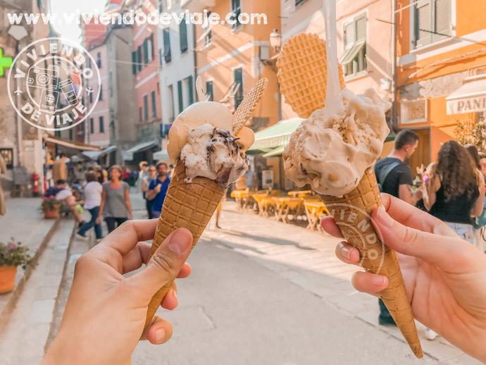 Que ver en Cinque Terre, gelato italiano