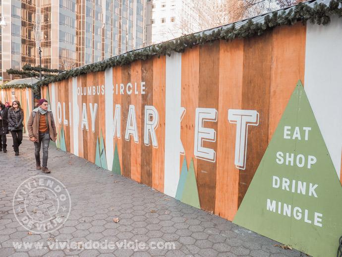 Mercadillos de Navidad en Nueva York | Columbus Circle Holiday Market
