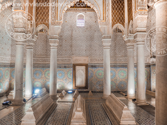 Las Tumbas Saadíes, una de las cosas que visitar en Marrakech imprescindibles