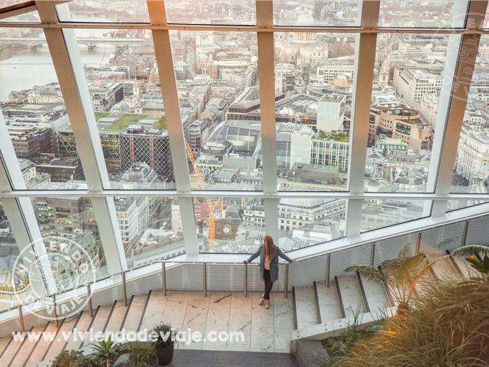 Vistas desde el Sky Garden de Londres