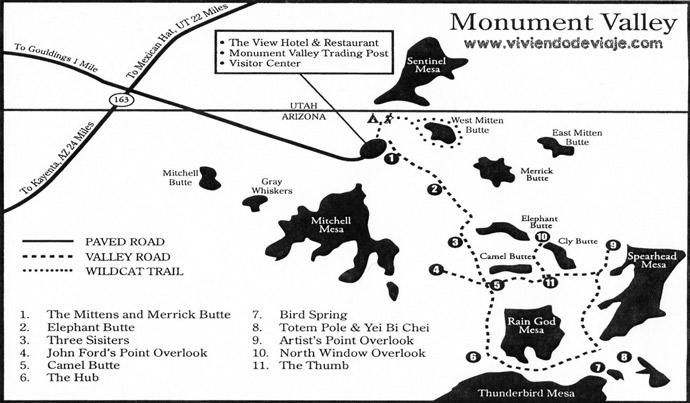 Mapa de Monument Valley