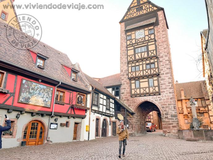 Torre del reloj de Riquewihr, Alsacia