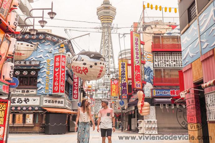 Una de las cosas que hacer en Osaka, distrito de Shinsekai
