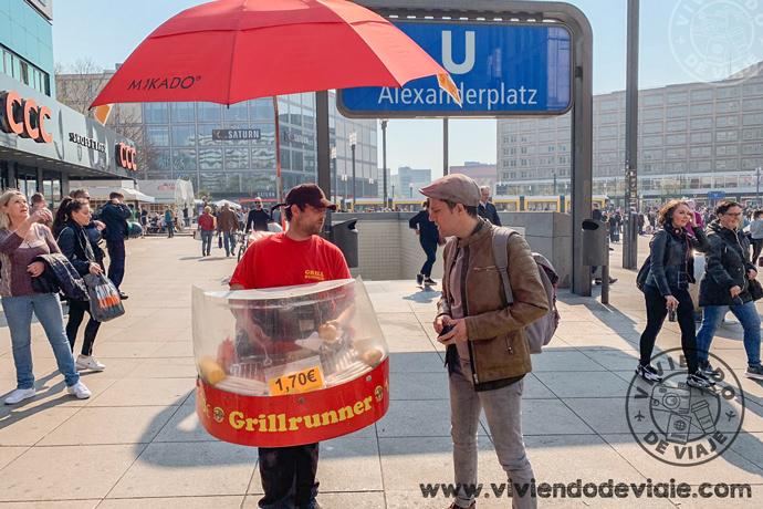 Grillrunner en la Plaza Alexanderplatz