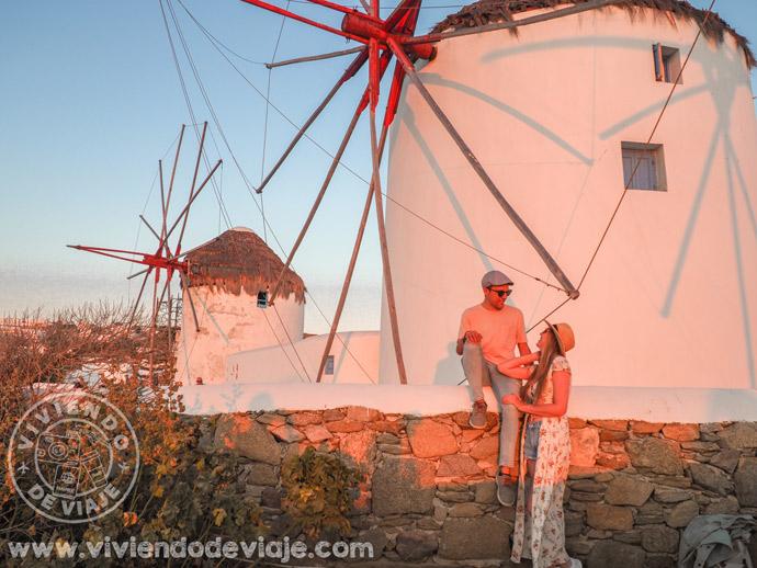 Atardecer en los molinos de viento Kato Milli