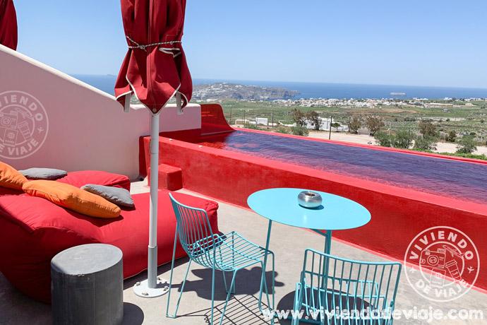 Hotel Art en Pyrgos, una de las opciones dónde alojarse en Santorini