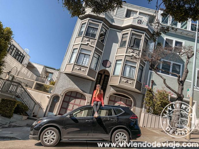 Nuestro coche de alquiler en San Francisco