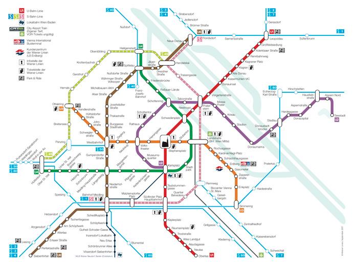 Cómo ir del aeropuerto de Viena al centro en tren