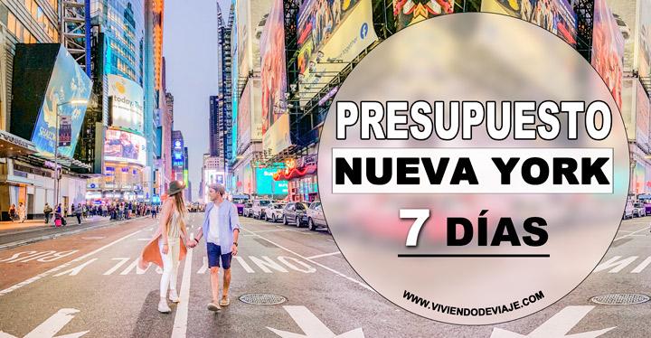 Presupuesto Nueva York 7 días
