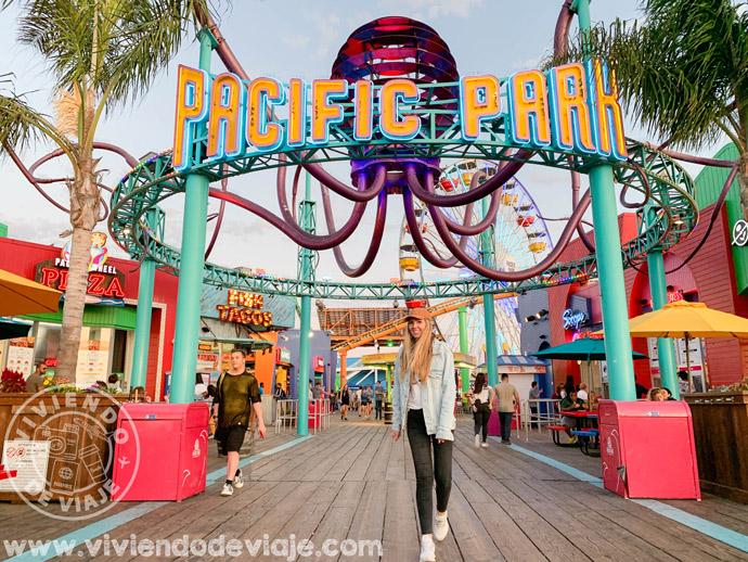 Pacific Park en el muelle de Santa Monica