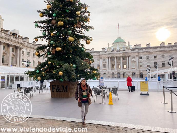 Somerset House en Navidad, Londres