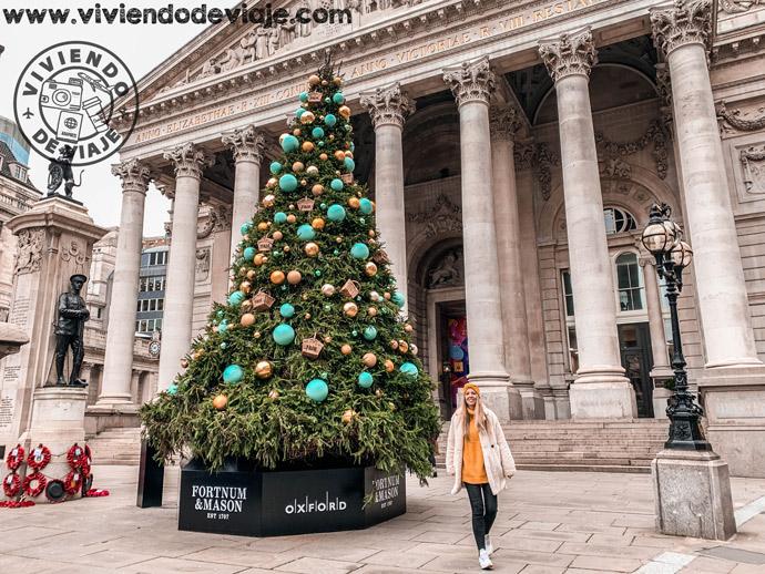 Árbol de Navidad de Bank of England, Londres