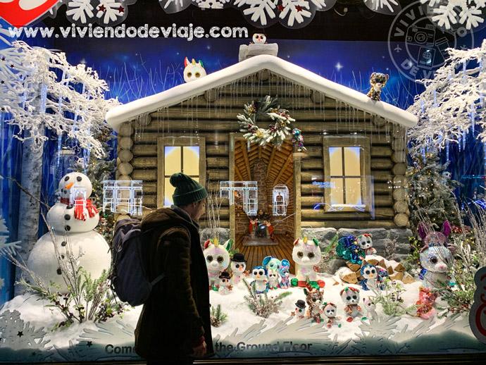 Juguetería Hamleys en Londres en Navidad