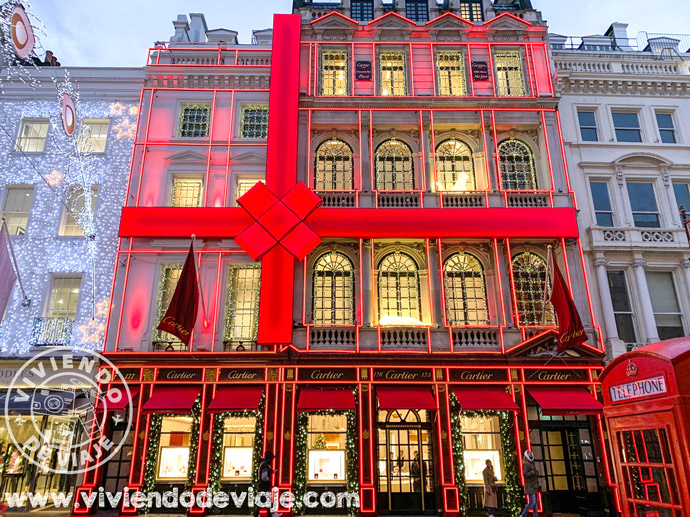 Decoraciones de Navidad en Old Bond Street, Londres