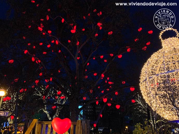 Árbol de corazones en el Ayuntamiento de Viena, Rathaus Park
