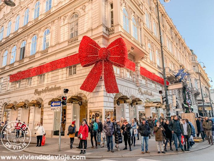 Iluminaciones de calles en Viena en Navidad