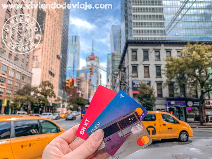 Tarjetas para viajar sin comisiones en Nueva York