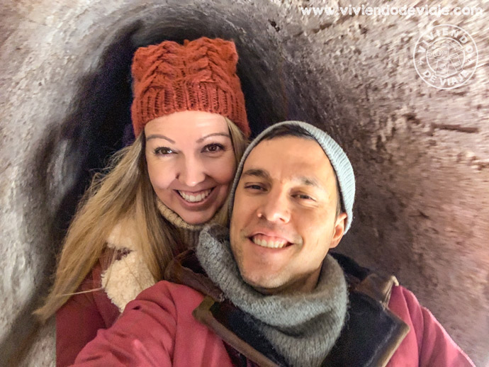 Saliendo en un trenecito de la mina de sal de Hallstatt