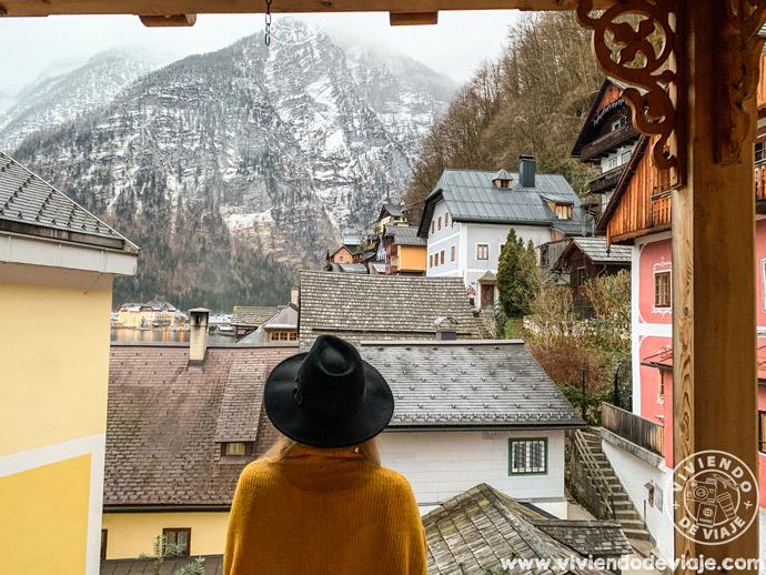 Las vistas desde nuestro alojamiento en Hallstatt