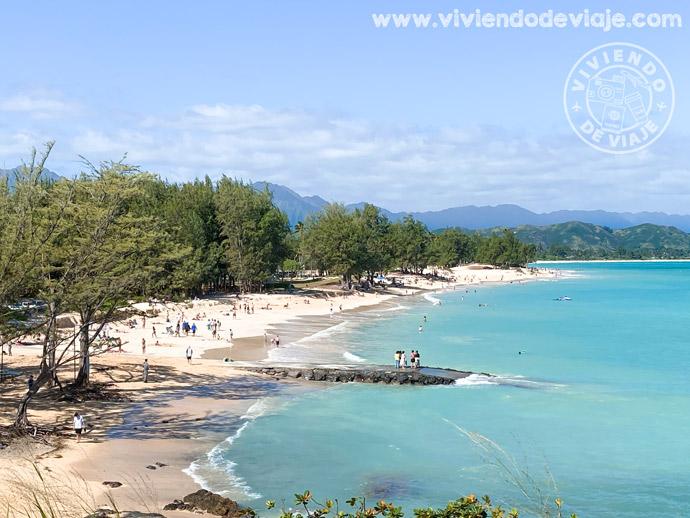 Playa de Kailua Beach, una de las más chulas que ver en Oahu