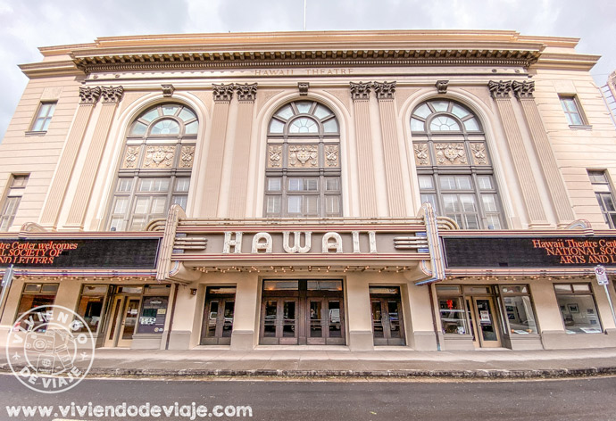 Hawaii Theatre en el barrio chino de Honolulu