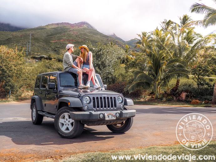 Nuestro coche de alquiler en Maui