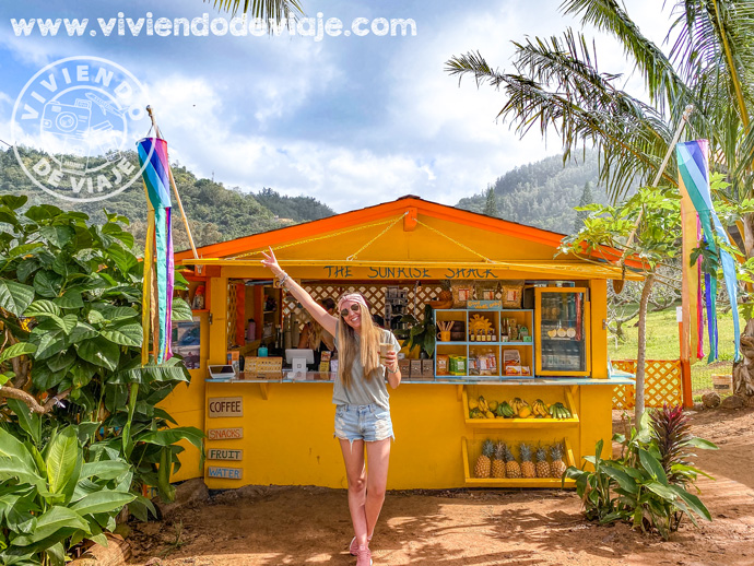 The Sunrise Shack en Oahu, Hawaii