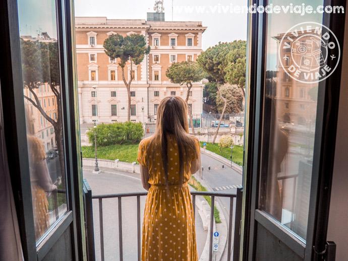 Alojamiento en Roma   Vistas desde el Hotel Viminale