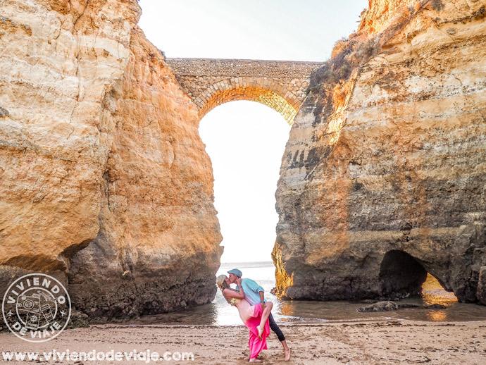 Amanecer en Praia dos Estudantes, Algarve