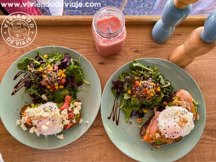Desayuno en Goji Lunch Cafe