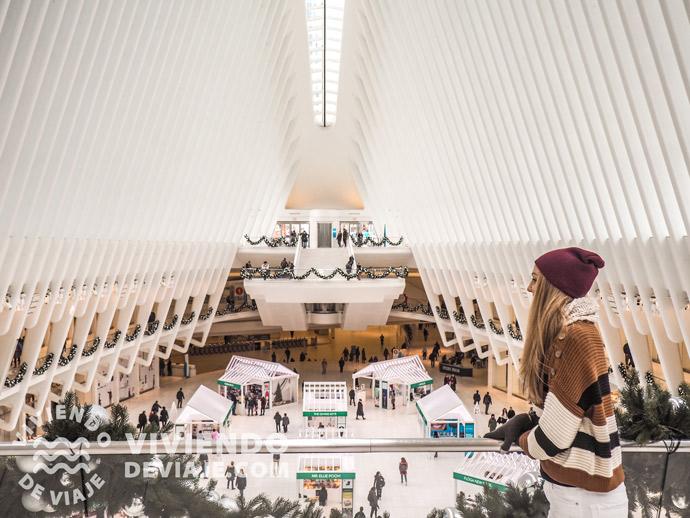 Mercadillo de Navidad en Nueva York en la Estación Oculus
