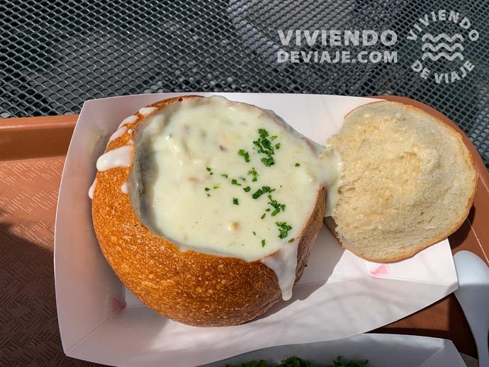 Sopa de almeja (clam chowder) | San Francisco consejos
