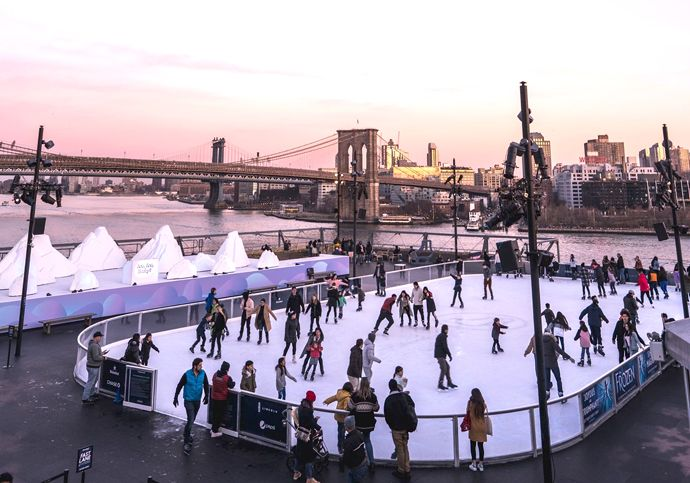 Pista de patinaje en el pier 17   Nueva York