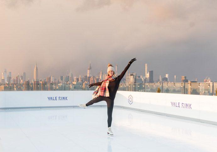 Pista de patinaje en Nueva York desde las alturas, Vale Rink