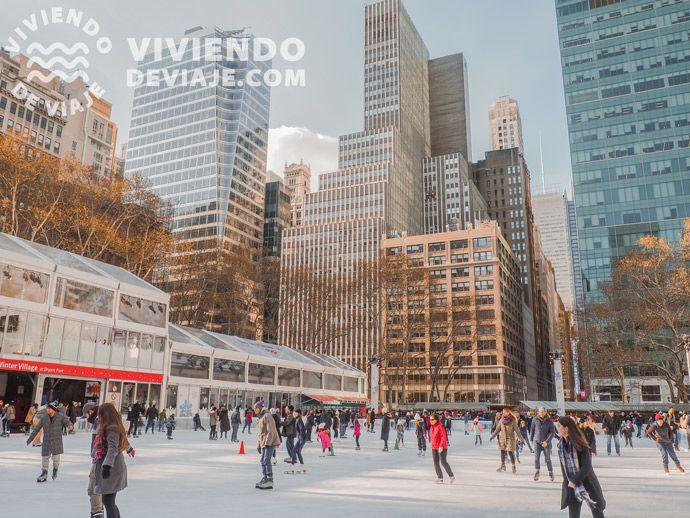 Pista de patinaje de Bryant Park | Nueva York en Navidad
