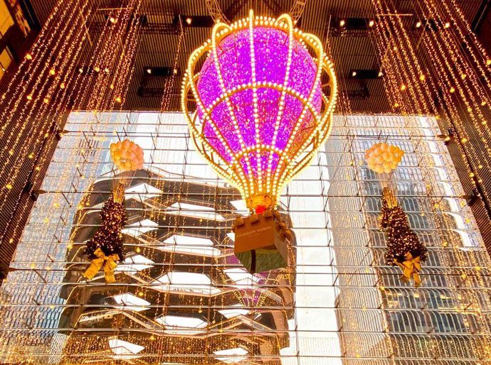 Decoraciones navideñas en Hudson Yards