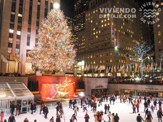 Árbol de Navidad del Rockefeller Center en Nueva York