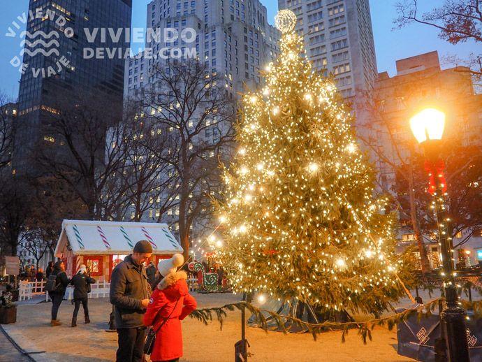 Árbol de Navidad en Nueva York en el Madison Square Park