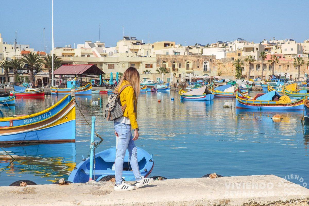 Pueblo pesquero de Marsaxlokk en Malta