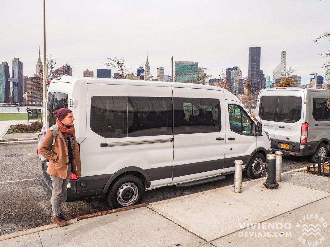 Furgoneta con la que hicimos el Tour de contrastes en Nueva York