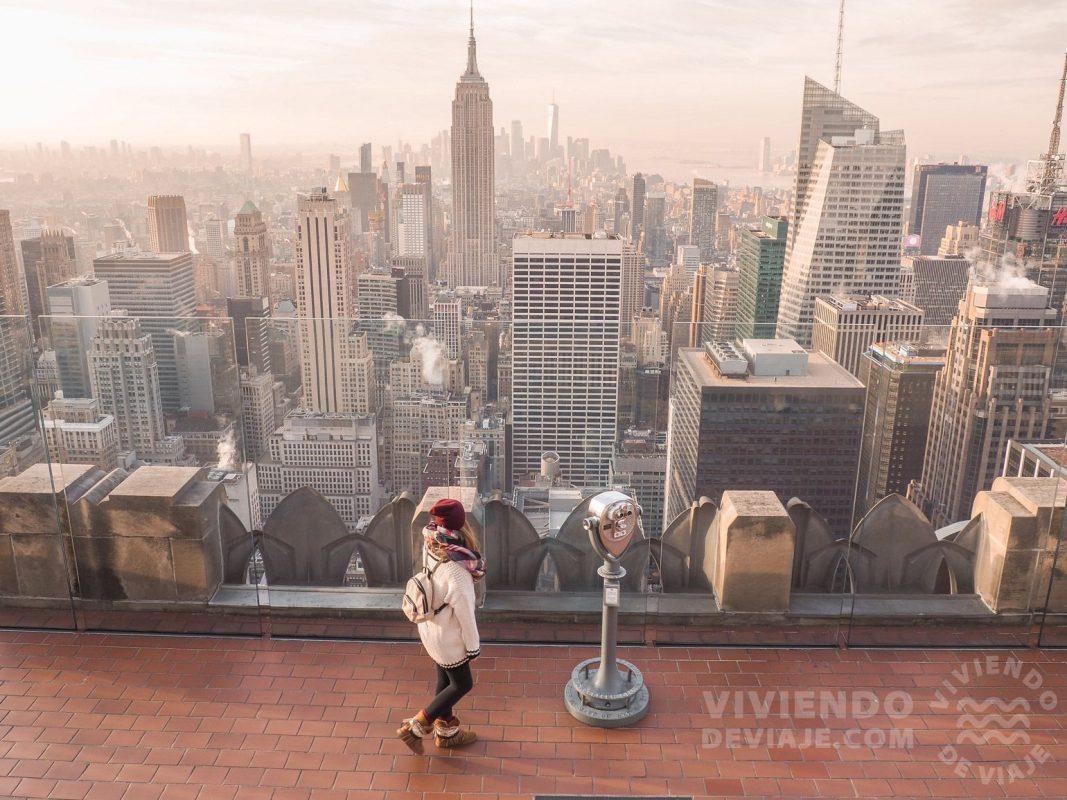 Vistas desde el Top of the Rock | Tarjetas turísticas Nueva York