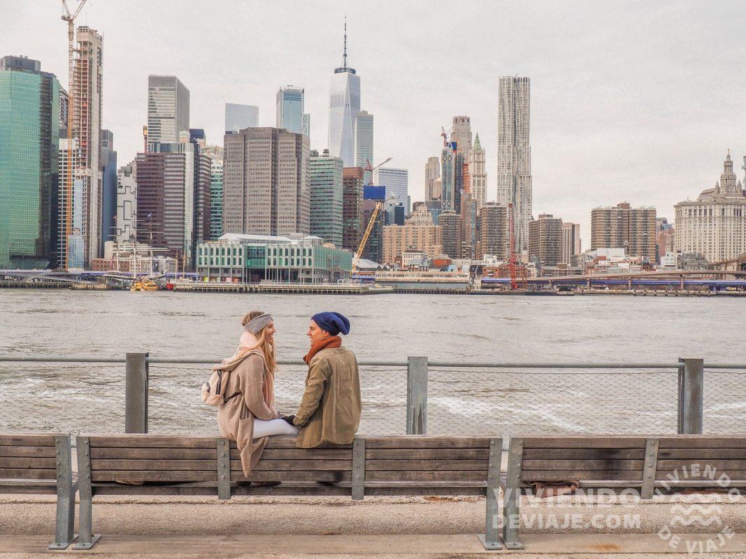 Atardecer desde Brooklyn con vistas a Manhattan