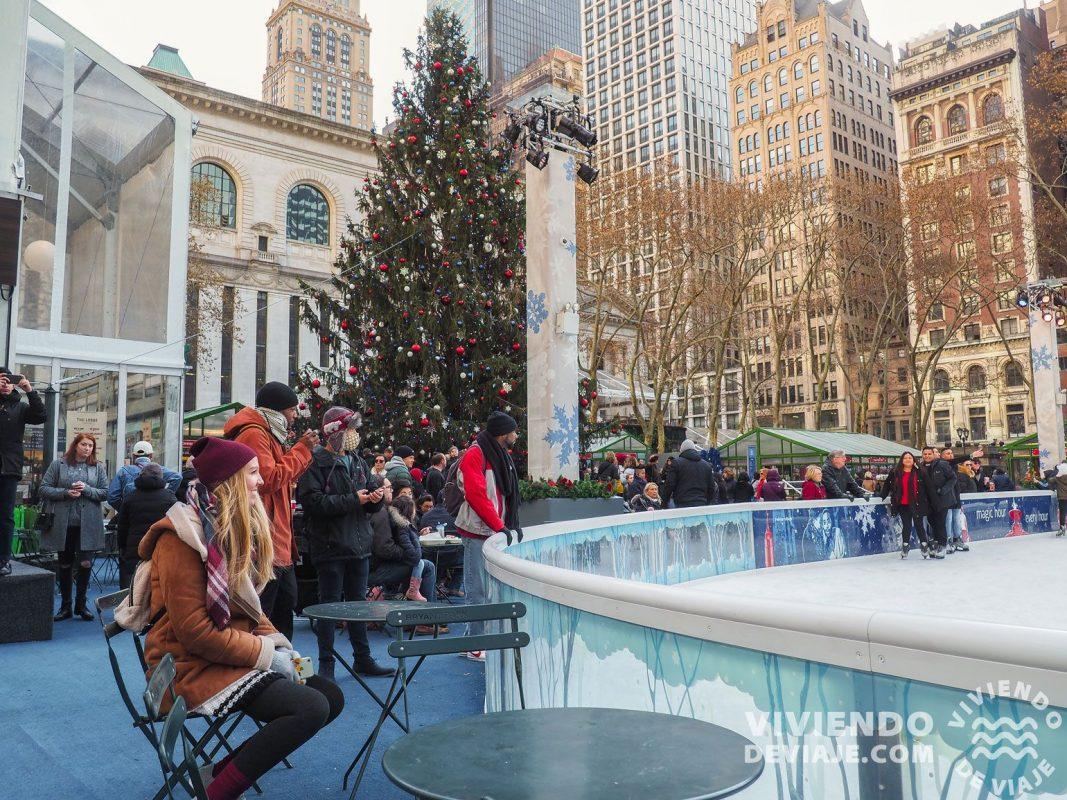 Bryant Park en Nueva York en Navidad