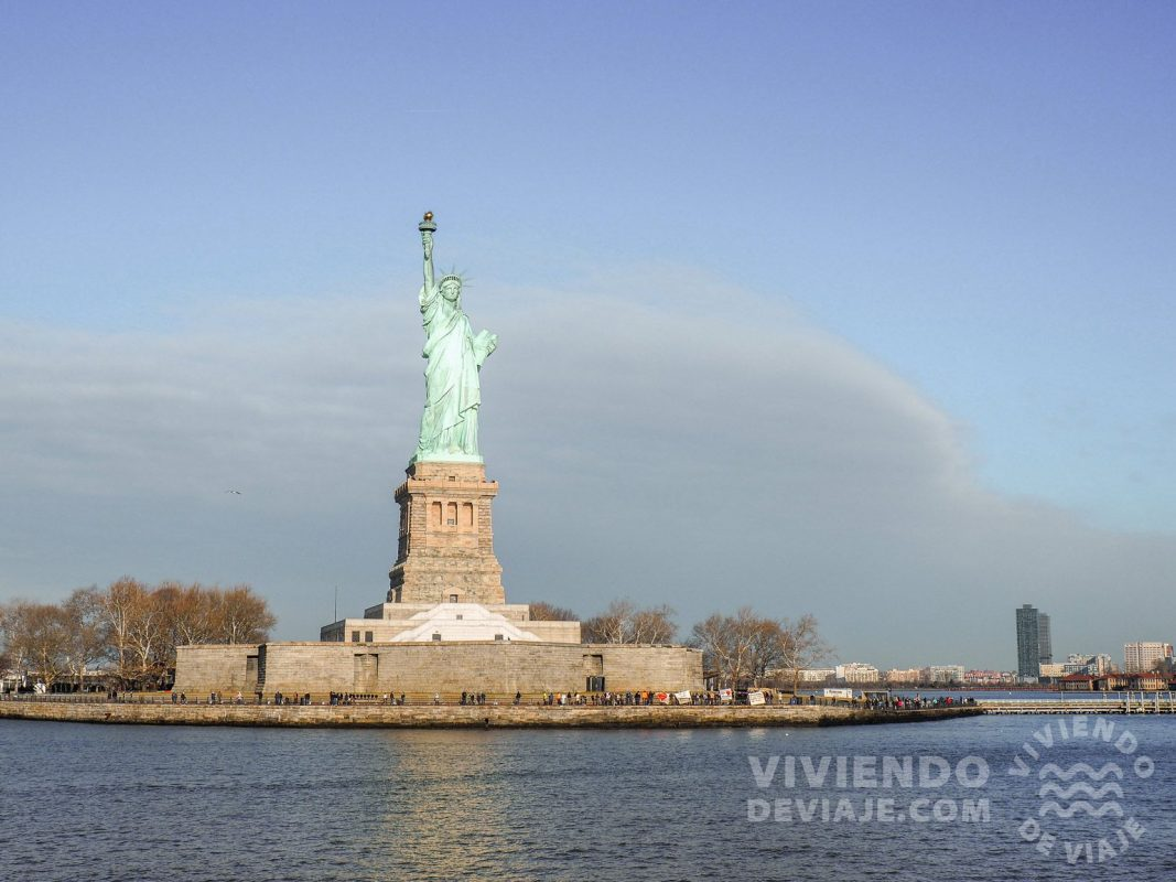 Visitar la estatua de la Libertad en Nueva York