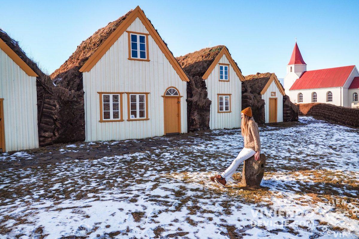 Visitar la granja museo Glaumbær en Islandia