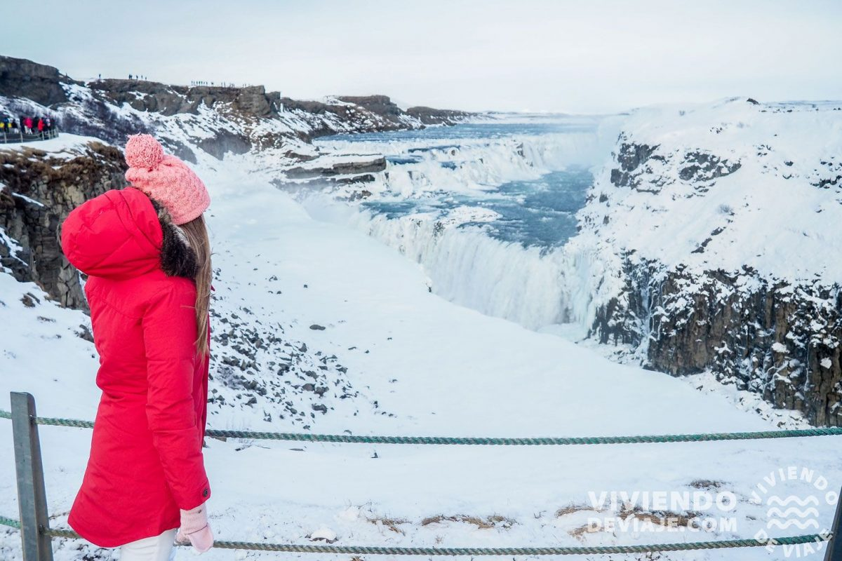 Qué ver en Islandia   Cascada Gullfoss en Islandia