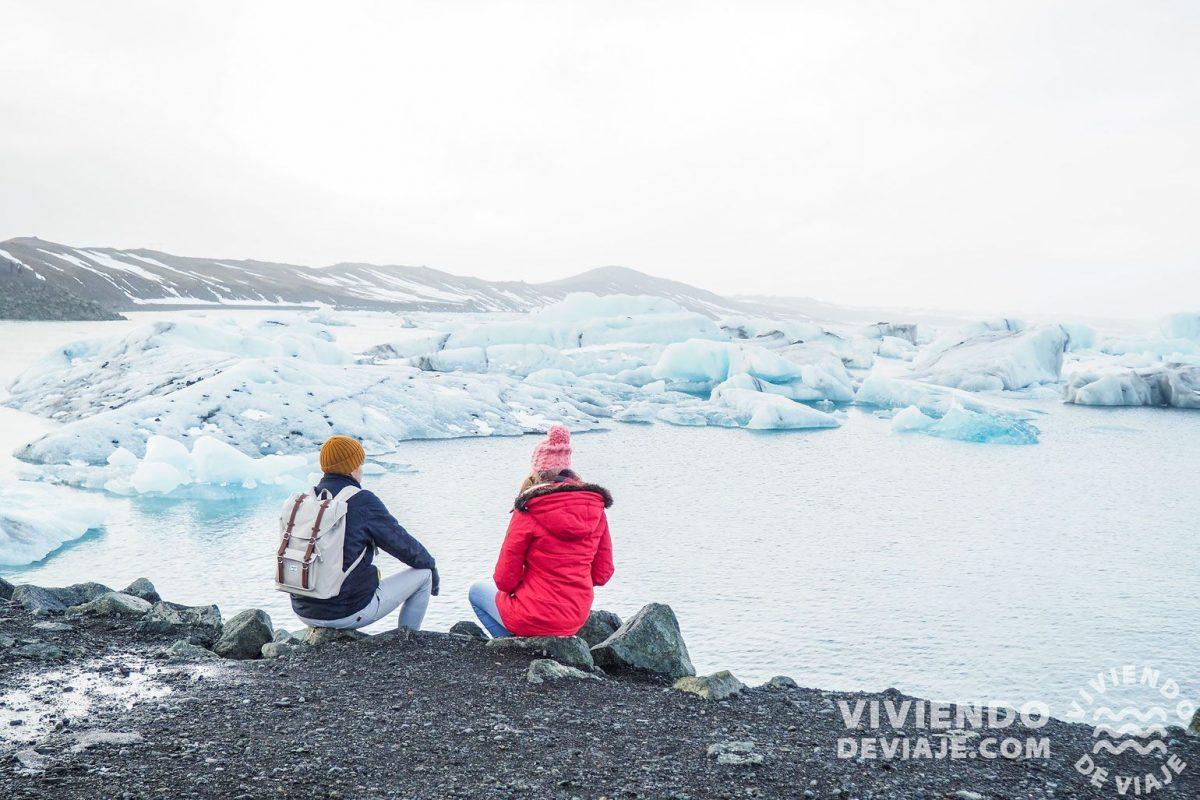 Visitar en Islandia el lago glaciar Jokulsarlon