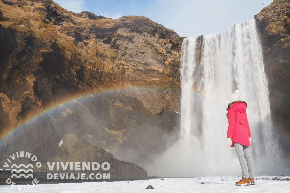 Qué ver en Islandia, cascada Skogafoss