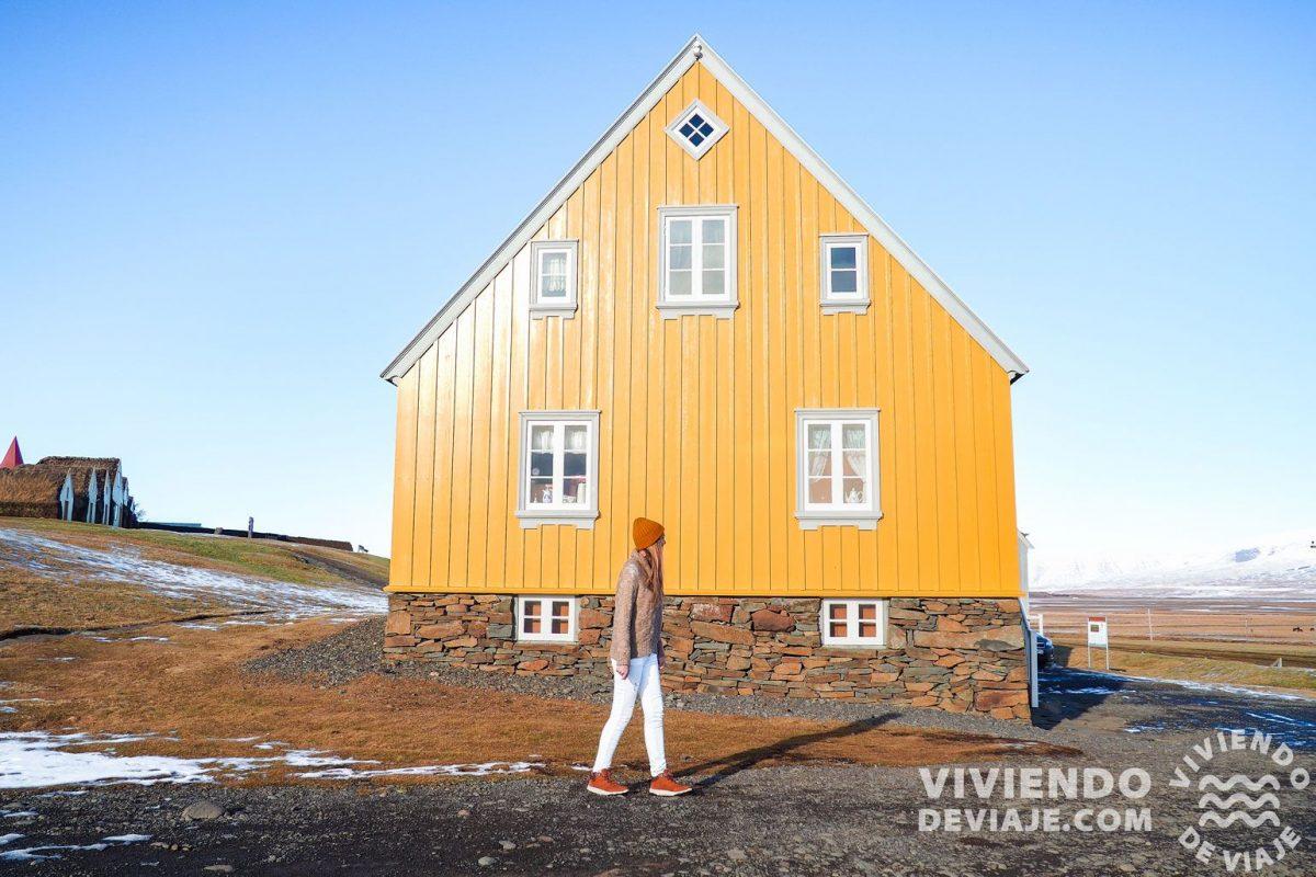 Coloridas casas en Islandia